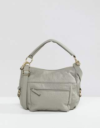 Ichi Grey Cross Body Bag