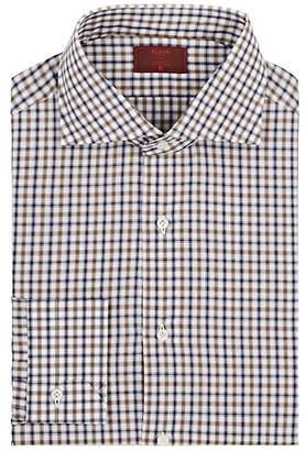 Isaia Men's Plaid Cotton Poplin Dress Shirt