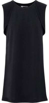 Y-3 + Adidas Elegant Mesh-Paneled Layered Stretch-Knit Tank