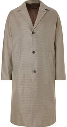Joseph Albert Oversized Houndstooth Cotton-Twill Coat