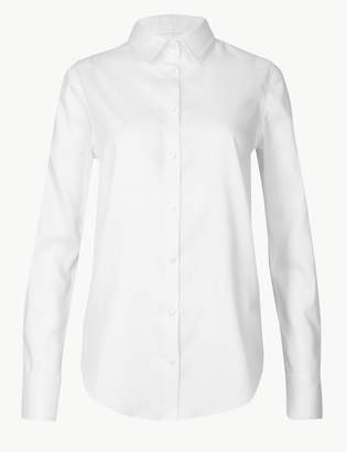 Marks and Spencer Pure Cotton Long Sleeve Shirt