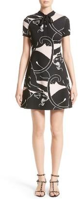 Women's Valentino Jacquard Panther Print Dress $2,850 thestylecure.com