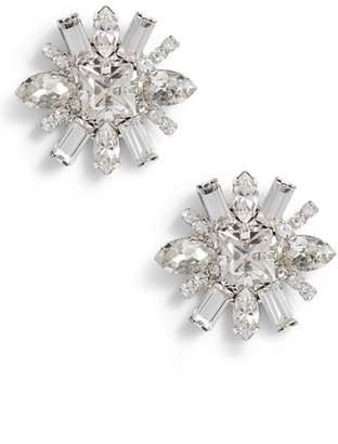 CRISTABELLE Multi Crystal Post Earrings