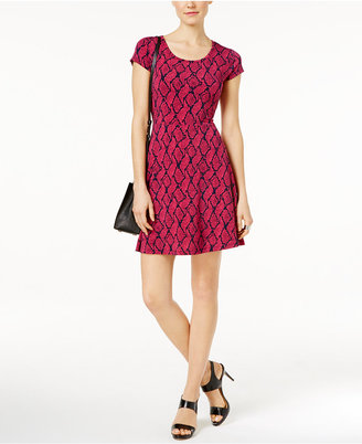 MICHAEL Michael Kors Printed Fit & Flare Dress $98 thestylecure.com