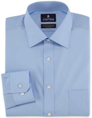 STAFFORD Stafford Travel Easy-Care Broadcloth Dress Shirt-Big & Tall