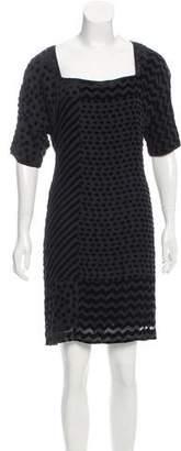 Vena Cava Velvet Abstract Print Dress