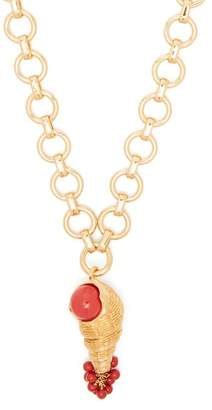 Aurelie Bidermann Roudoudou 18kt Gold Plated & Coral Necklace - Womens - Gold