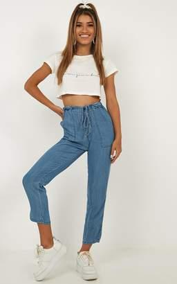 Showpo Edina Jeans in mid wash denim - 12 (L) Jeans