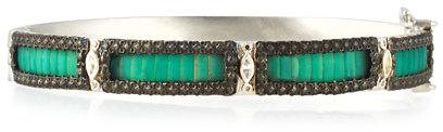 ArmentaArmenta New World Teal Mosaic Bracelet with Diamonds