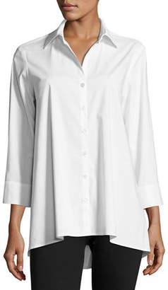 Finley Trapeze 3/4-Sleeve Blouse, Plus Size