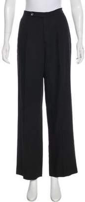 Burberry High-Rise Wide-Leg Pants