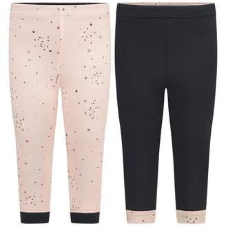 Ikks IKKSBaby Girls Pink & Navy Reversible Leggings