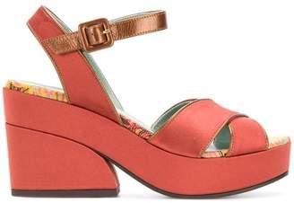 Paola D'arcano strap contrast sandals