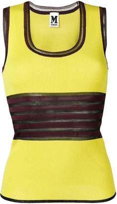 M Missoni yellow striped tank top