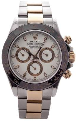 Rolex Daytona 116523 Two-Tone 18K Gold Stainless Steel Automatic 40mm Mens Watch $16,900 thestylecure.com