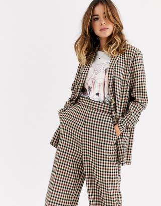 Nobody's Child tailored blazer with pocket detail in check