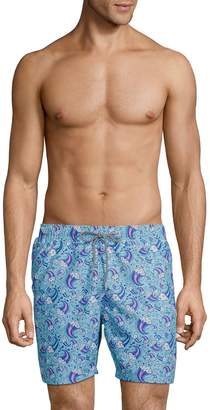 Boardies Wave-Print Drawstring Swim Shorts