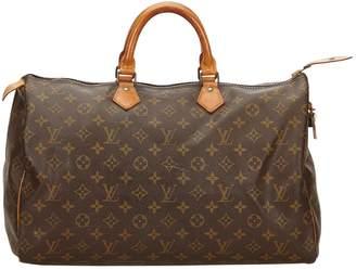 Louis Vuitton Vintage Sdy Brown Cloth Handbag