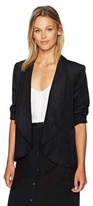 Nine West Women's Wing Collar Suede Fly Away Jacket