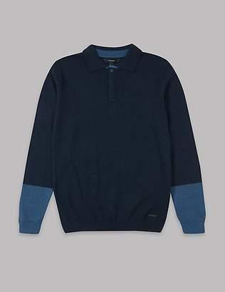Autograph Cotton Blend Polo Shirt (3-16 Years)