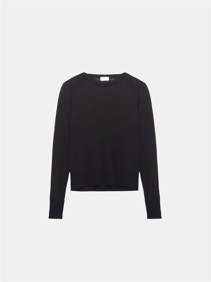 DKNY Ribbed Panel Sweatshirt