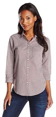 Dockers Women's Essential Perfect Pattern Relaxed Fit Long Sleeve Shirt $19.11 thestylecure.com
