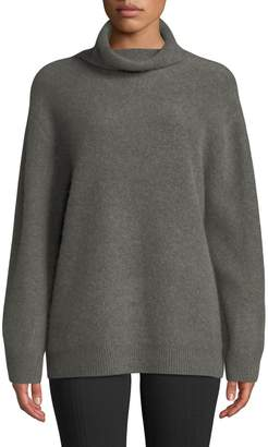 Vince Boxy Cashmere Mock-Neck Pullover Sweater