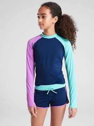 Athleta Girl Colorblock Long Sleeve Rashguard