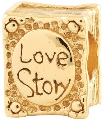 story. Prerogatives 14K Gold-Plated Sterling Love Book Bead