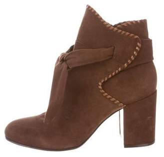 Rachel Zoe Suede Round-Toe Ankle Boots