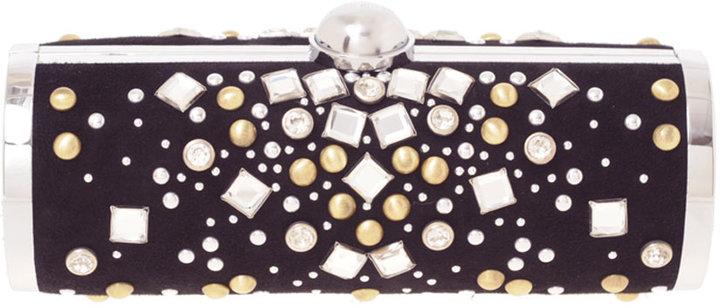 Karen Millen Studded And Diamante Clutch Bag