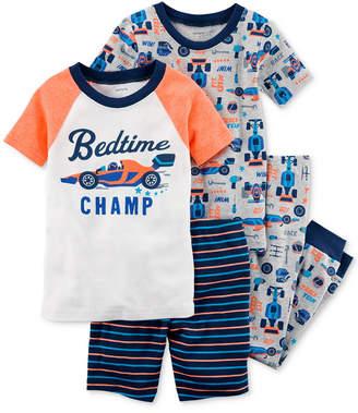Carter's 4-Pc. Race Car Cotton Pajama Set, Baby Boys