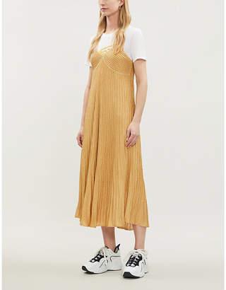 Sandro Metallic stretch-knit maxi dress