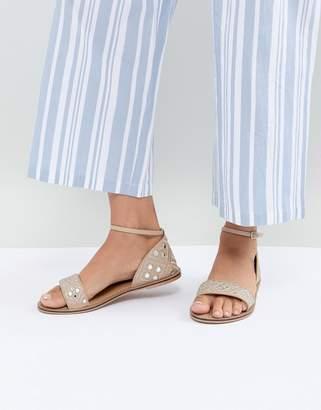Accessorize Marissa Pink Mirrored Flat Sandals