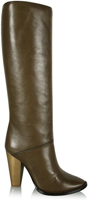D&G Dolce&Gabbana Olive Knee High Boots