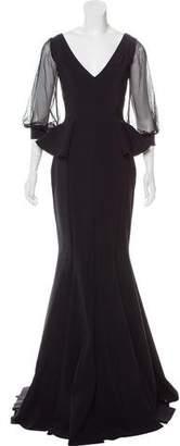 Chiara Boni Peplum Evening Dress