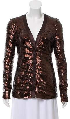 Rachel Zoe V-Neck Embellished Jacket