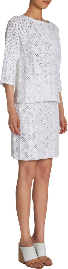 Chloé Crocheted Geometric Motif Sweater