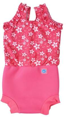 Splash About International Happy Nappy Diaper Swimsuit Pink Blossom XX Large 2-3 Years