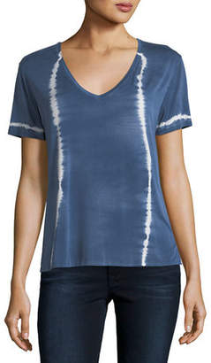 Neiman Marcus Majestic Paris for Tie-Dye Short-Sleeve Top