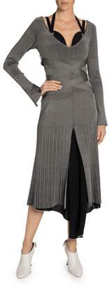 Proenza Schouler Metallic Ribbed Knit Dress