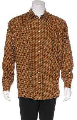 Burberry Chevron Striped Button-Up Shirt