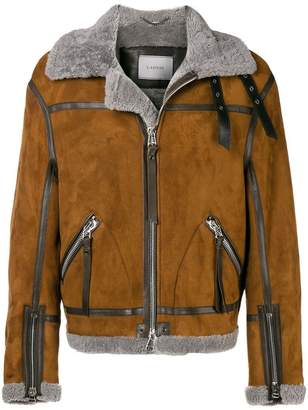 Lanvin aviator shearling jacket