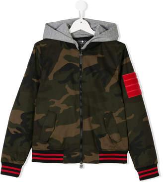 Hydrogen Kids Teen contrast-trim camouflage jacket