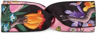 Gucci Flora Snake print headband
