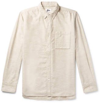 Pilgrim Surf + Supply Fletcher Button-Down Collar Cotton And Yak-Blend Flannel Shirt