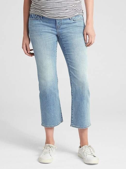 Maternity Full Panel Crop Flare Jeans