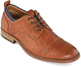 Jf J.Ferrar Mens Damon Oxford Shoes Lace-up Round Toe
