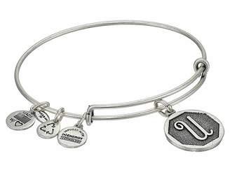 Alex and Ani Initial U Charm Bangle Bracelet