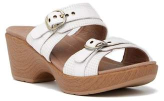 Dansko Jessie Wedge Platform Leather Sandal